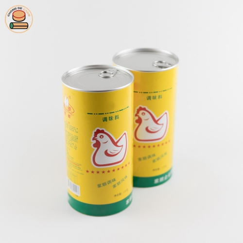 Custom Recyclable Cheap tube Paper Can for Chicken essence with Aluminium Pull Ring Lid.