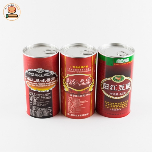 Custom Recyclable Cheap tube Paper Can for Food packing pop-top paper can