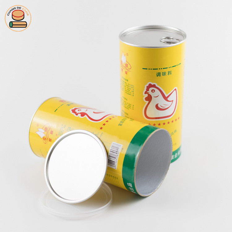 Cylindrical paper cans
