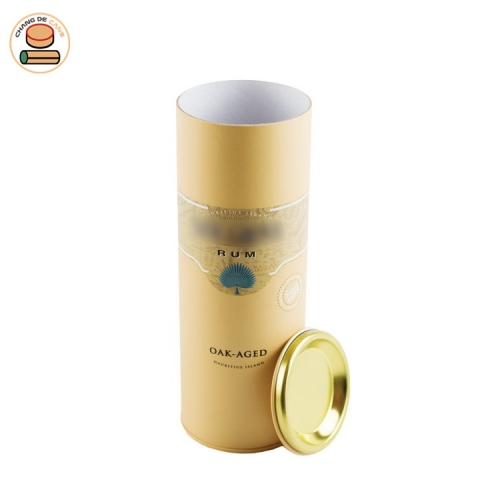 Customization tube packing for wine bottle paper cans packaging Custom design color