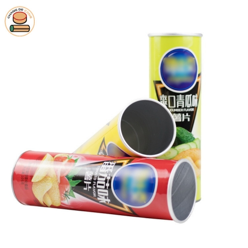 Food-grade custom Recyclable Cheap paper tube Paper Can for Potato Chips