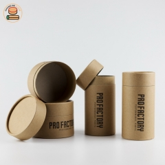 Customization design push up kraft paper tube packaging with paper lid