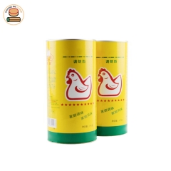 Custom Recyclable food grade tube Paper Can for Chicken essence with aluminium foil lining Pull Ring Lid.