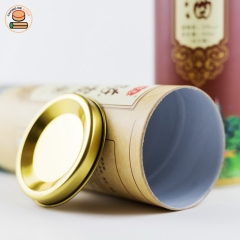 Customization paper tube packing for wine paper cans packaging custom design color