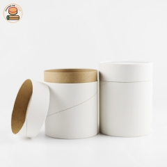 Eco friendly blank white paper cans tube packaging cosmetic container