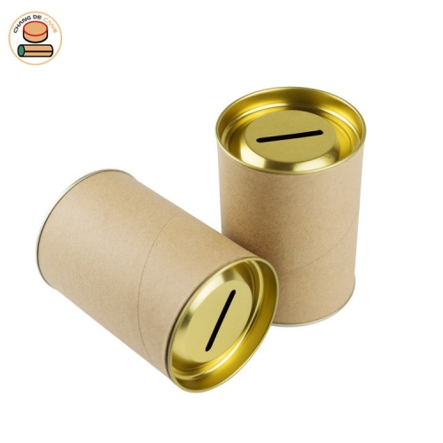 Coin Collection Cans Paper tube packaging for pocket money
