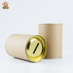 Paper piggy bank Coin Collection Cans Paper tube packaging for pocket money