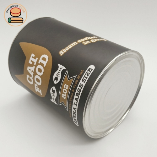 paper cat food packaging can cylinder tube packaging with pet food Kraft paper box packaging