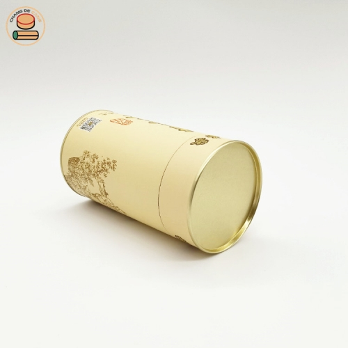 eco friendly tea packaging kraft powder packaging with black tea paper tube packing for red fu tea