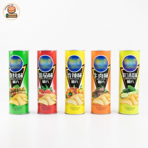 Custom Printed Potato Chips Paper Tube Packaging
