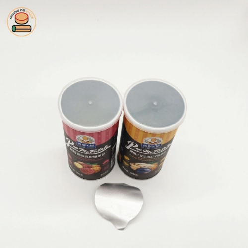 Various Sizes Custom Label Potato Chips Packaging Paper Can