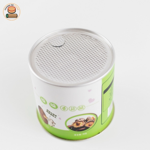High Quality Custom EOE Composite Paper Ring Pull Cans Packaging For Cocoa Coffee Powder
