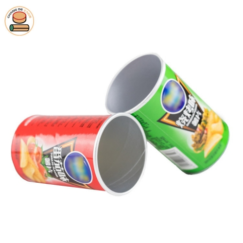 Personalized Label Food-grade Paper Tube Packaging for Packing Chips