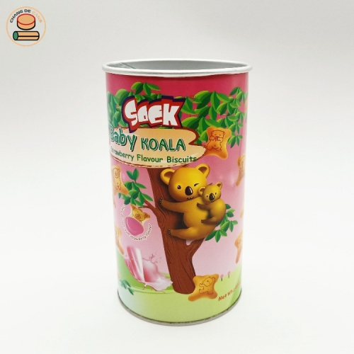 factory wholesale kraft seal Easy to pull paper can packaging for snack food