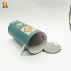 Custom wine water bottle package paper with cord cylinder box cardboard tube packaging with logo