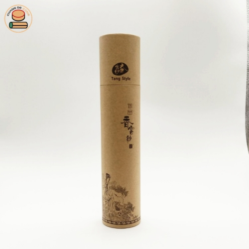 custom elegant push up paper tube bottle packaging for printings art collection map packaging