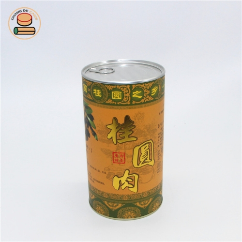 100% recycled airtight container dry fruit packaging CMYK Printing Food Kraft Canister Round Paper Tube