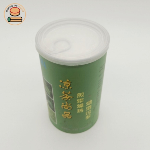 best selling easy ring pull lid paper tube packaging for tea coffee matcha cocoa powder paper canister packaging