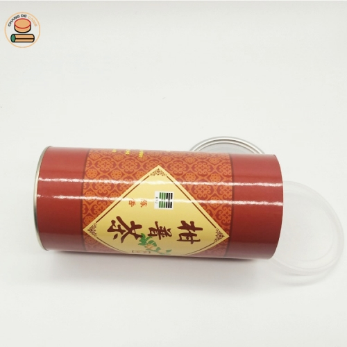 Wholesale New Style Custom Printed Ring Pull Paper Tube Food Grade Can For Nuts