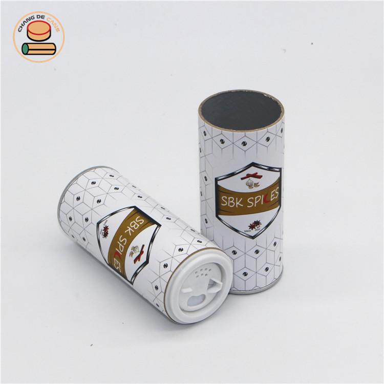 Flavoring Shake Lid Paper Cans Packaging