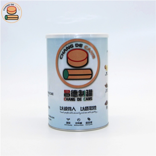 Food grade paper tube easy tear lid paper can for spices food powder seasoning soluble powder cookie packaging