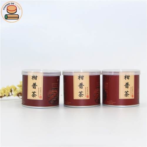 Mini 100% Biodegradable material empty paper cans Food & Tea & Coffee & Spice cardboard paper tube cans packaging