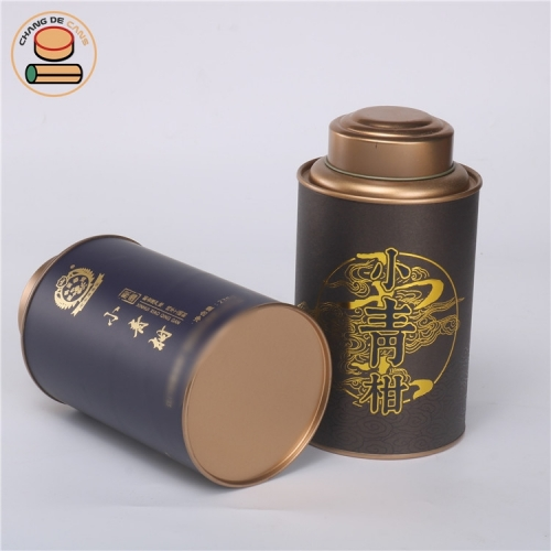 2020 New Design food grade tea paper tube packaging boxes composite can for red tea Betel nut Pumpkin seed kernel