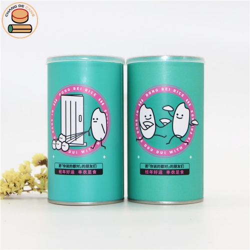 High quality composite Cylindrical paper tube food powder seasoning rice snacks packaging