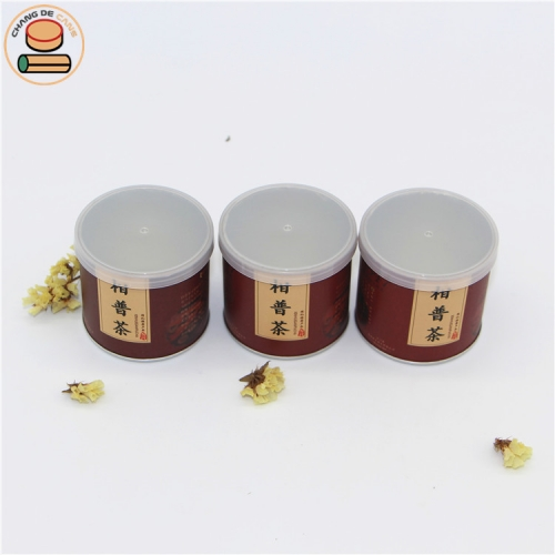 Food grade paper tube with easy open lid paper can for tea food powder seasoning packaging