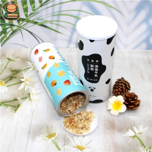 The lowest price custom pet food feed nut dry beef powder egg roll cookies candy cardboard packaging with easy peel off lid