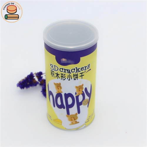 cylinders package packaging tube for crackers cookies chocolate packing aluminum foil lining