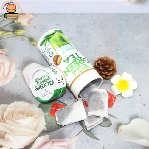 Recycled material paper tube black tea match flower and fruit tea health product cardboard paper boxes packaging